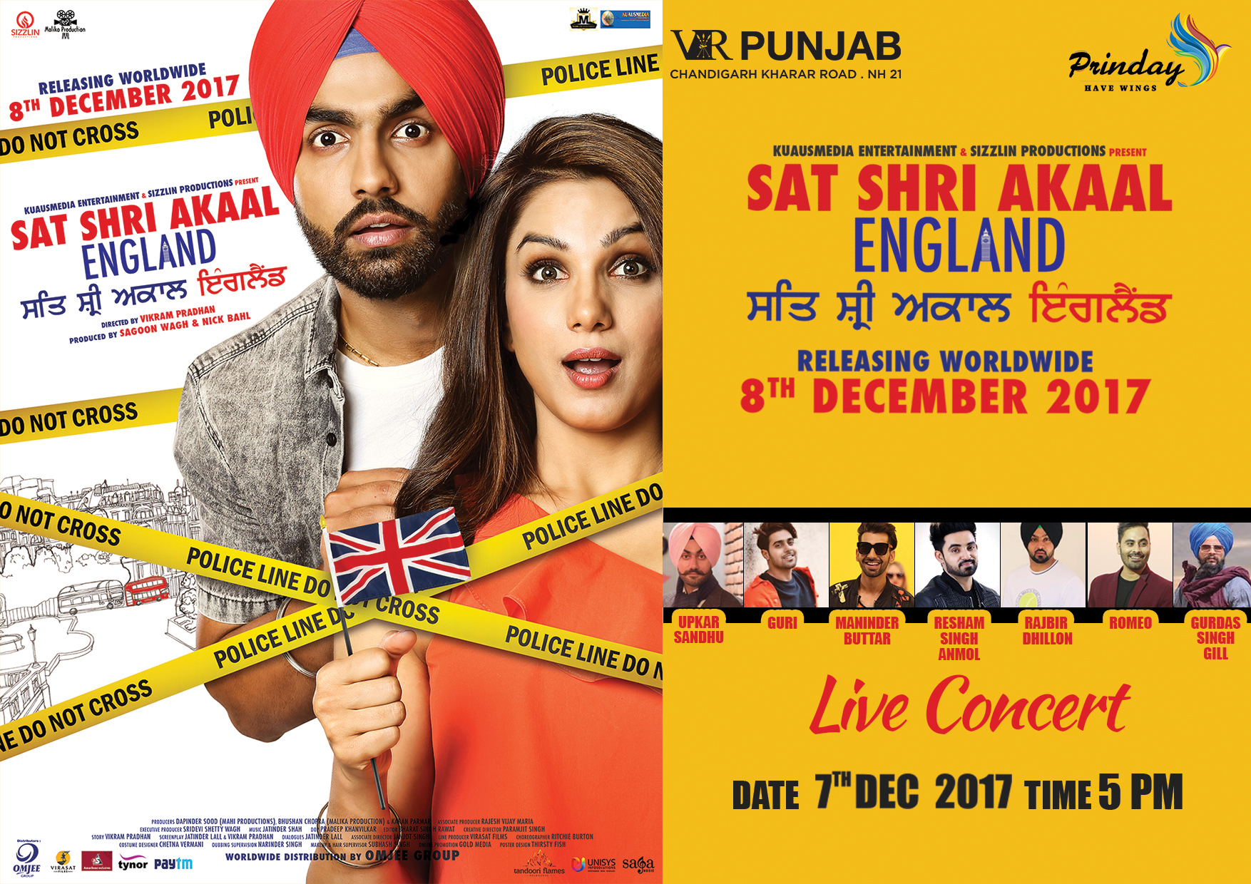 AMMY VIRK LIVE - SAT SHRI AKAAL MOVIE PROMOTIONS