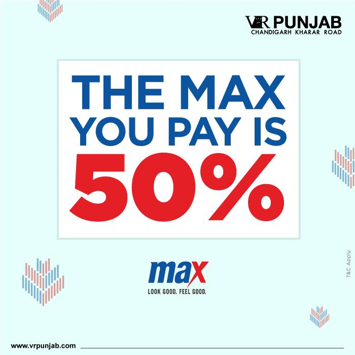 THE MAX YOU PAY IS 50%